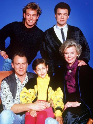 Alan Dale on Neighbours (front left).
