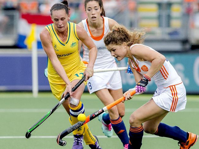 Australia women's hockey captain Madonna Blyth will meet The Netherlands team again in the hockey World Cup final. Picture: AFP/ANP Sander Koning