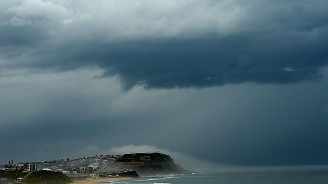The storm arrives in Newcastle / Picture: Peter Lorimer.