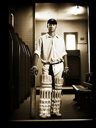 """MAKING HISTORY - """"It was the 100th Test match at the SCG so we wanted to mark the occasion with a special picture. We borrowed some traditional whites and an old baggy green skullcap which came out of a bank vault to transform captain Michael Clarke.'' - Clarke turns back time before making a triple-century against India. Picture: Phil Hillyard"""