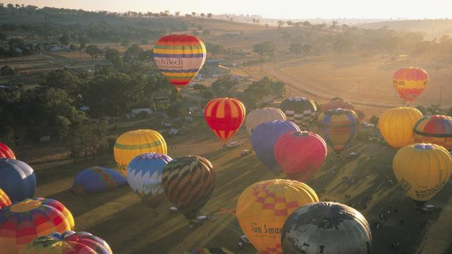 Hot Air Balloon festival, Canowindra, Central NSW. Destination NSW