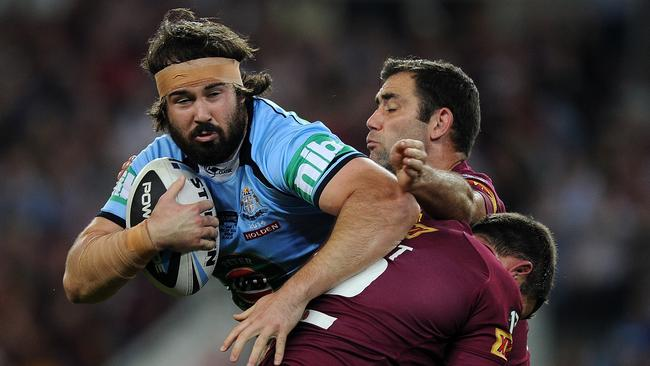 Aaron Woods said the Blues will 'give it to Brent Tate' in game two.
