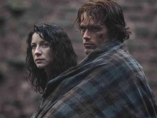 Author Diana Gabaldon was delighted when Sam Heughan was cast in the TV series. Picture: Supplied