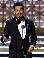 """Riz Ahmed accepts the Outstanding Lead Actor in a Limited Series or Movie award for """"The Night Of"""" onstage during the 69th Annual Primetime Emmy Awards at Microsoft Theater on September 17, 2017 in Los Angeles, California. Picture: Getty"""