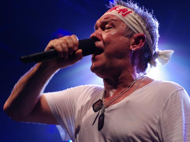 Jimmy Barnes has revealed the truth about that famous headband. Picture: News Corp Australia