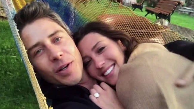 Arie and Becca enjoying their short-lived time together, post-Bach. Photo: ABC