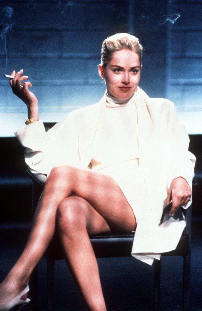 Sharon Stone as Catherine Tramell in the crime thriller Basic Instinct.