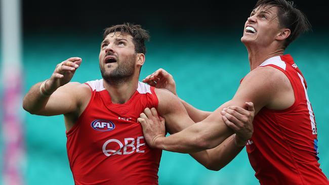Toby Nankervis (left) is now a Tiger. Picture: Phil Hillyard