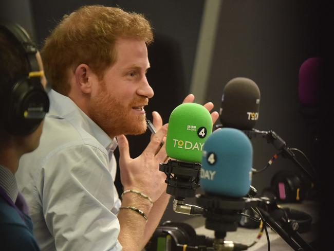 Prince Harry has been lauded for his work guest editing BBC Radio 4's Today program — but not everybody is happy. Picture: Jeff Overs/BBC via Getty Images