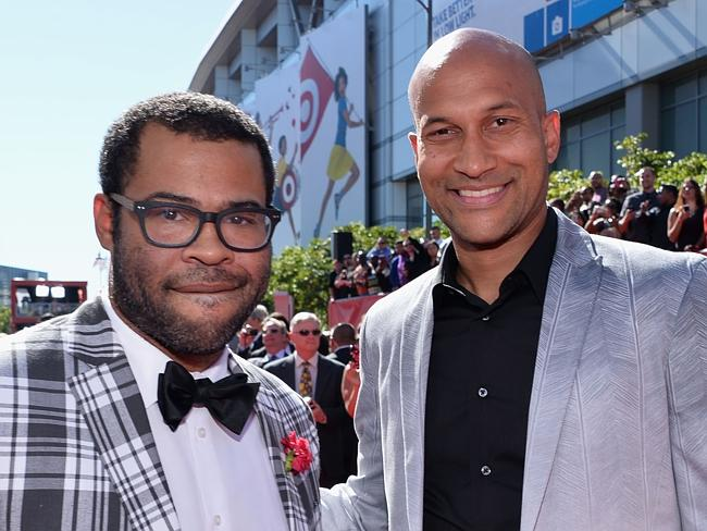 On board ... Comedians (L) Jordan Peele and Keegan-Michael Key have signed on to produce the new Police Academy reboot.