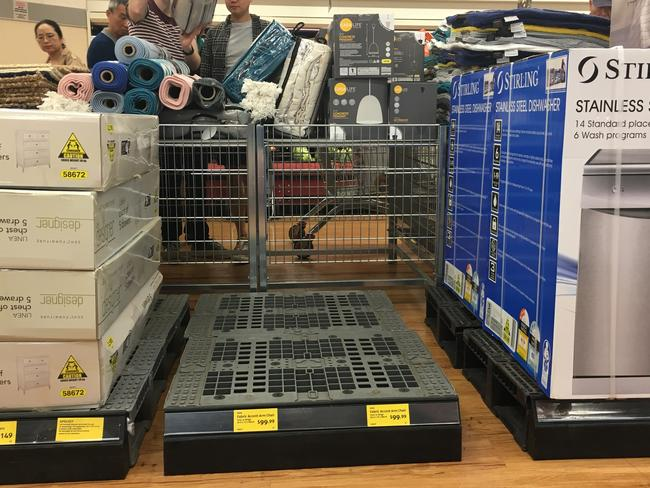 The Aldi arm chair sold out at Chatswood within 10 seconds.