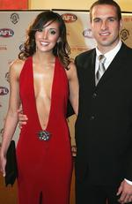 2004 - Rebecca Twigley and Chris Judd of the West Coast Eagles arrive for the Brownlow Medal Dinner. Picture: Sean Garnsworthy/Getty Images