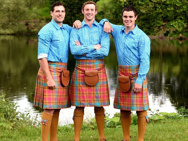 Scotland's Commonwealth Games uniform is a shocker, too.