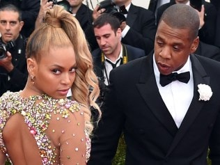 Beyonce and Jay-Z arrive at the Metropolitan Museum of Art. Photo: AFP/Timothy A. CLARY