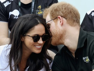 Prince Harry and Meghan Markle at a Wheelchair Tennis match during the Invictus Games in September Photo: Getty Images
