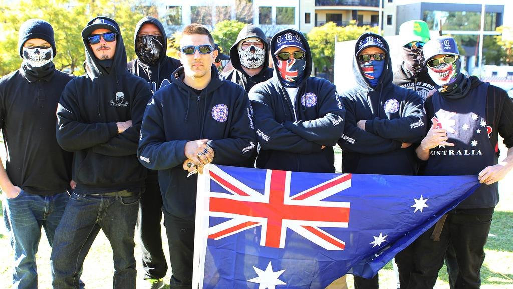 The angry white men in the Reclaim Australia movement. picture: Sean Middleton