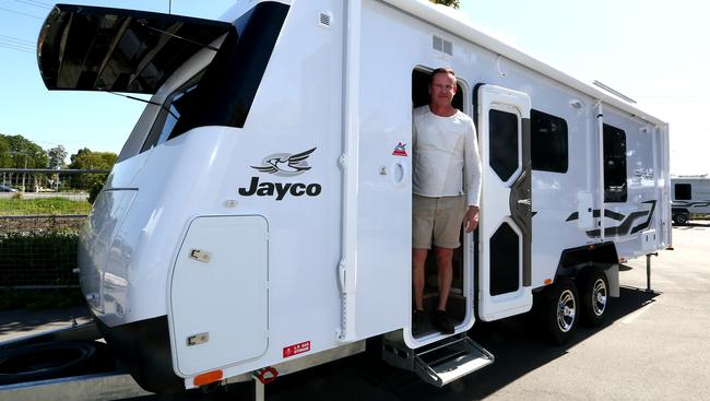 Brandon Sutcliffe From Jayco With A 25 Foot Silverline Picture David Clark