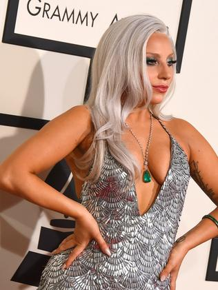 Lady Gaga arrives at the 57th annual Grammy Awards at the Staples Center on Sunday, Feb. 8, 2015, in Los Angeles. Picture: Jordan Strauss/Invision/AP