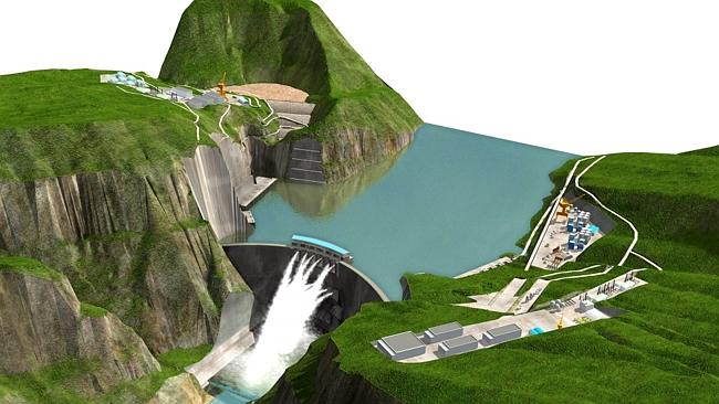 An artists impression of the man-made Beihetan Dam could be a disaster waiting to happen.