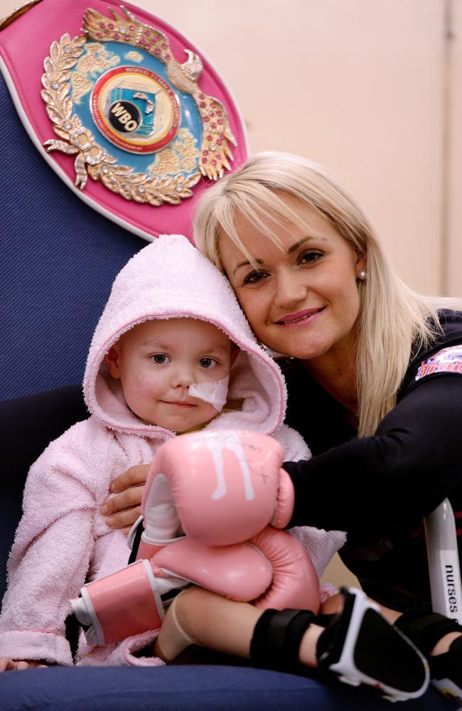 Kira Joyce (2), pictured with Erin McGowan at Fremantle Hospital, suffers from acute lymphoblastic leukaemia. Picture: Daniel Wilkins