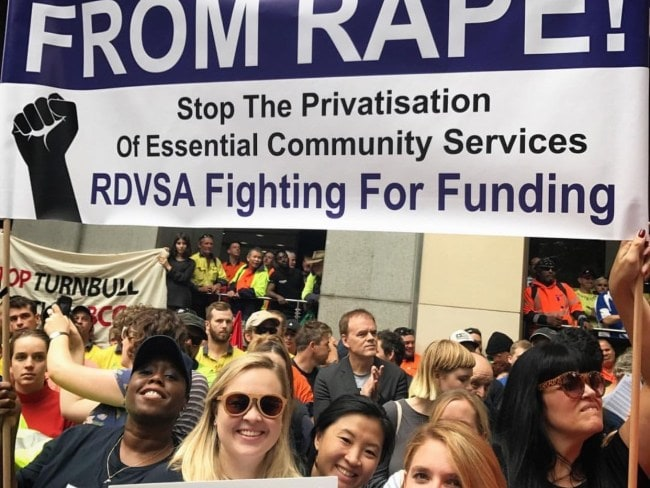 RDVSA members protest the proposed changes. Photo: Supplied