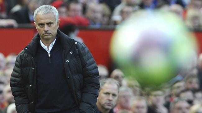 Manchester United manager Jose Mourinho follows the game during the English Premier League soccer match between Manchester United and Stoke City at Old Trafford in Manchester, England, Sunday, Oct. 2, 2016. (AP Photo/Rui Vieira)