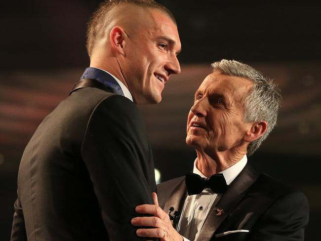 Dustin Martin won the 2017 AFL Brownlow Medal Count at Crown Palladium. Picture: Mark Stewart