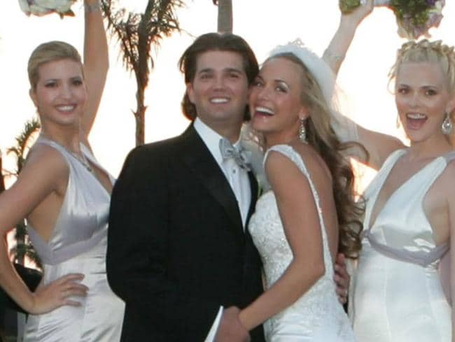 Donald Trump Jr. and Vanessa Trump on their wedding day on November 12, 2005