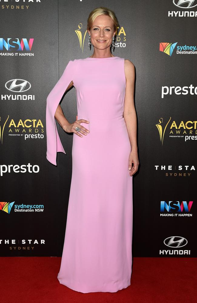 Marta Dusseldorp arrives ahead of the 5th AACTA Awards Presented by Presto at The Star on December 9, 2015 in Sydney, Australia. Picture: AAP