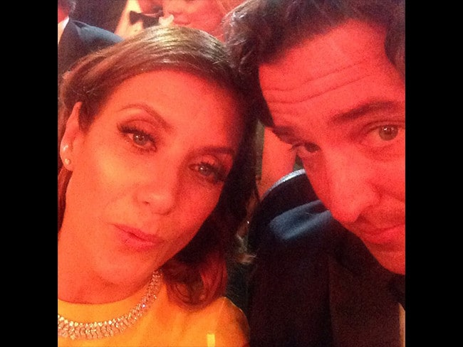 "Behind The Scenes Emmy Awards 2014... Actress Kate Walsh posts, ""Please help us, we r very hungry and thirsty! #emmys"" Picture: Instagram"
