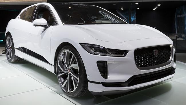 Jaguar showed off the I-Pace at the Geneva motor show earlier this month. Pic: Supplied. Picture: AP.