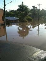 <p>Jan 13: Flooding cuts Carmody Rd, St Lucia. (Reader picture)</p>