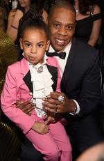 Blue Ivy Carter and Jay Z during The 59th GRAMMY Awards at STAPLES Center on February 12, 2017 in Los Angeles, California. Picture: Kevin Mazur/Getty Images for NARAS