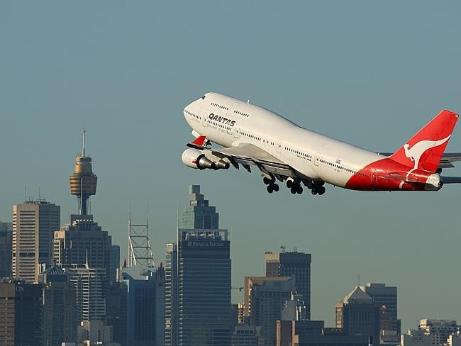 A Qantas plane takes off. Picture: AirTeamImages