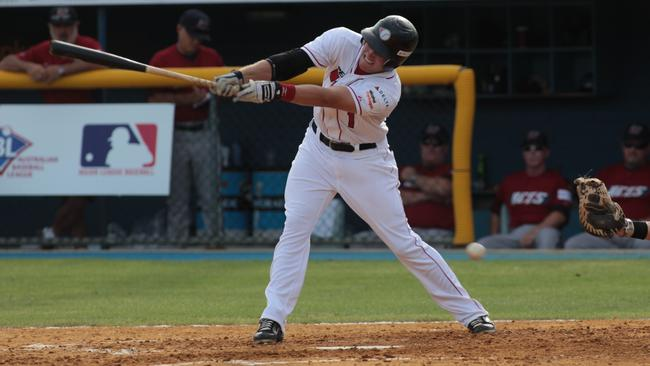Corey Adamson in action for Perth Heat against Melbourne Aces. Picture: Bohdan Warchomij
