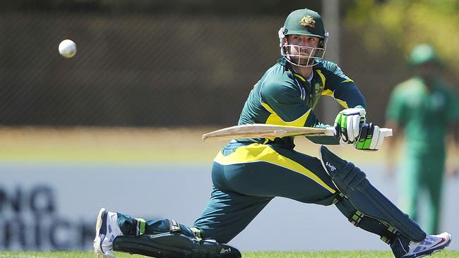 Phil Hughes became the first Australian man to pass 200 in a limited-overs game.