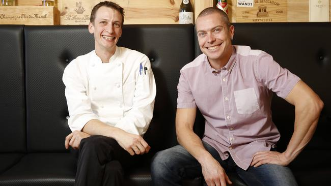 Argo co-owners, chef Voytek Zochowski and Juraj Durica, at their Pymble restaurant.