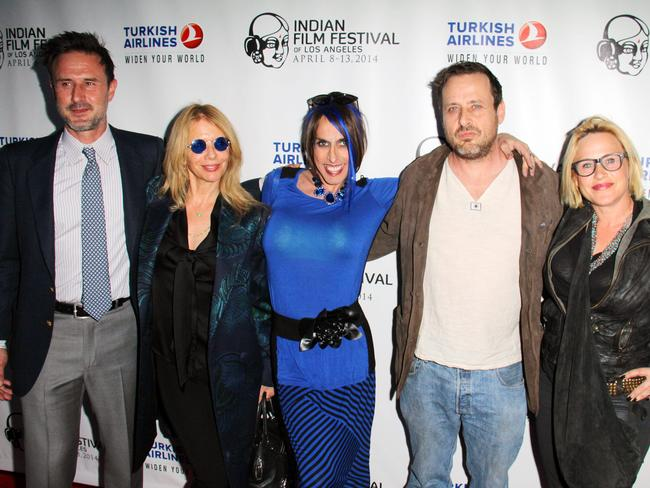 The Arquettes ... celebrity siblings (from left) David, Rosanna, Alexis, Richmond and Patricia Arquette. Picture: Supplied