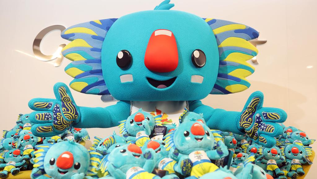 Soft Borobi toys are the star of the Commonwealth Games merchandising launch. Photo: Richard Gosling