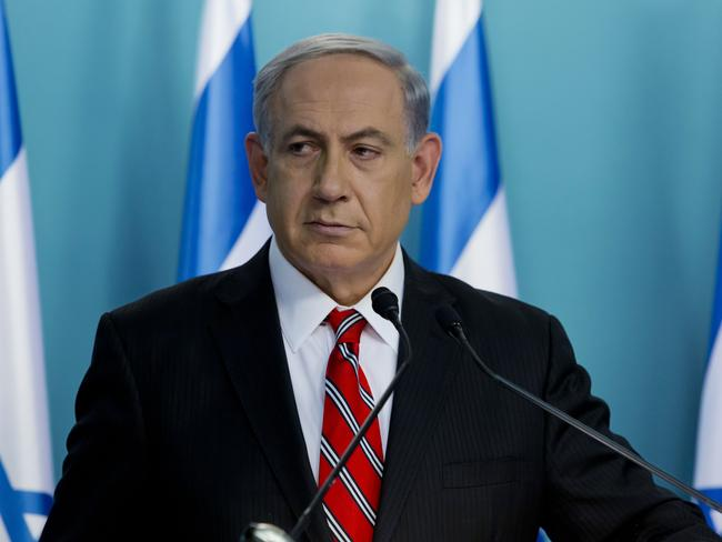 Fighting back ... Israeli Prime Minister Benjamin Netanyahu. Picture: AP Photo/Jim Hollander