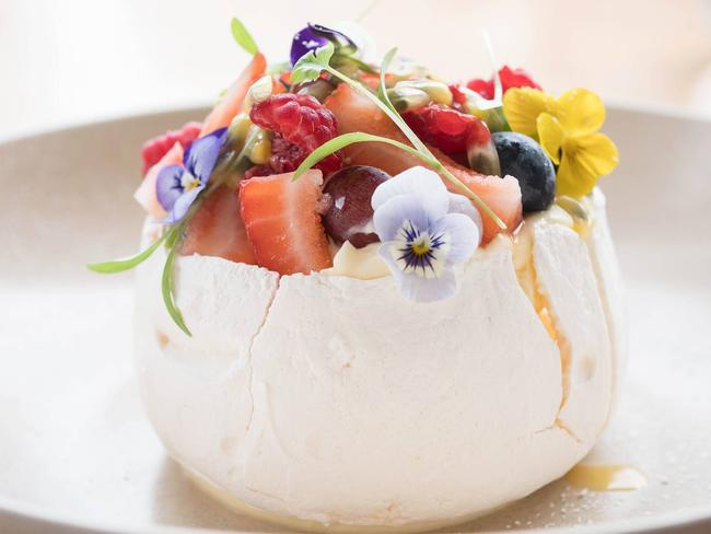 The pavlova at Dunbar House. Picture: Supplied