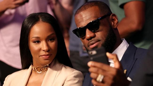 NBA player Lebron James and wife Savannah Brinson