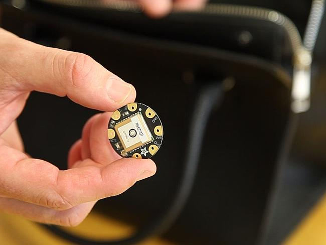 The GPS chip tracks your location to warn you about danger zones.