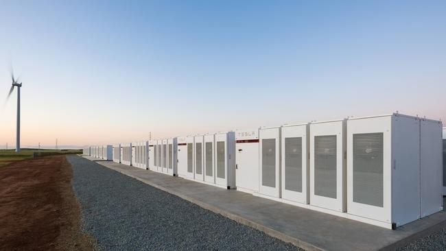 Tesla's lithium-ion battery in Jamestown. Source: Supplied.