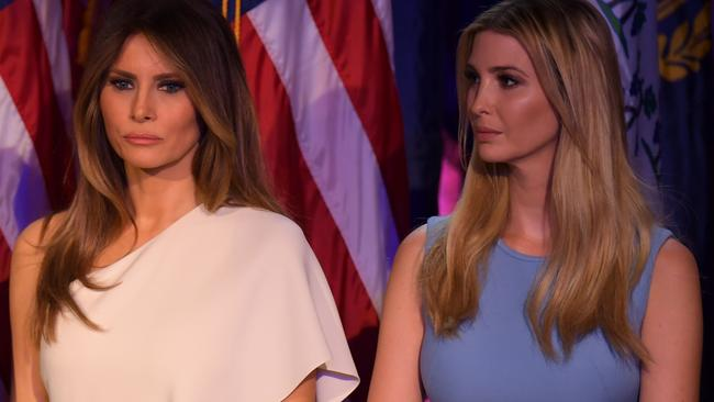 Mr Trump's wife, Melania, and eldest daughter, Ivanka. Pic: AFP