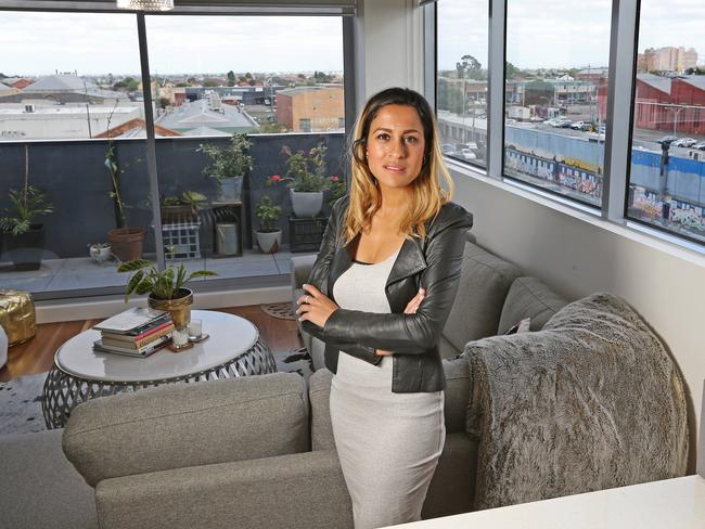 Diana Sayed, 32, recently saved up a 20 per cent deposit to buy her first two bedroom, two bathroom home. Picture: Tim Carrafa