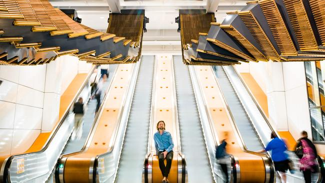 "Wynyard Station's ""Interloop"" is the creation of Sydney artist and sculptor Chris Fox."