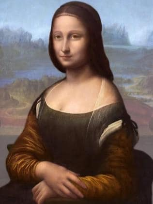 Found underneath ... A computer image purporting to represent the original portrait of the Mona Lisa.
