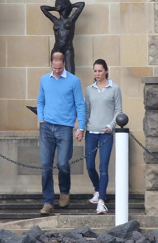 Getting around in jeans and sneakers on a rare day off in Canberra. Picture: News Corp Australia