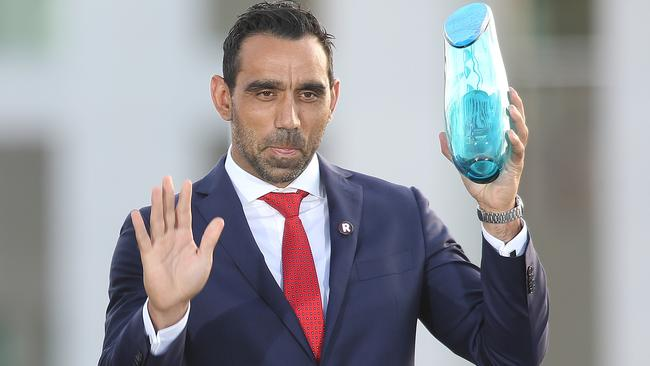 No recognition of Australian of the Year winner Adam Goodes and his award in this year's footy coverage.